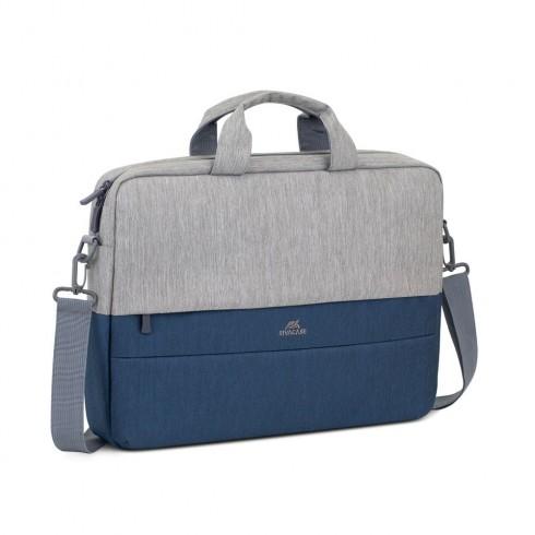 RIVACASE 7532 Чанта за лаптоп 15.6, сив/тъмно син