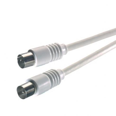 Vivanco 19321 Коаксиален кабел 19321 с накрайник M-F 75dB 5.0 м