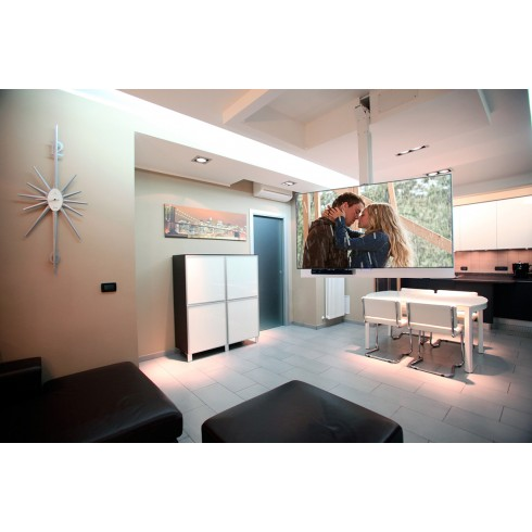 Major FLIP 900R Моторизирана сгъваема стойка от таван за LED/LCD/Plasma екрани с дистанционно управление, с възможност за регулиране на височината и въртене