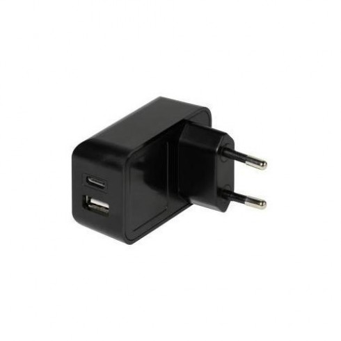 Vivanco 37548 Мрежово зарядно 2 изхода USB-C + USB A