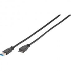 Vivanco 45236 Кабел USB 3.1 <-> microB, 0.25m
