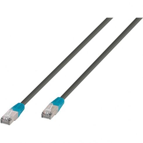 Vivanco 45912 Мрежов кабел CAT 6, F / UTP, сив/син 5м