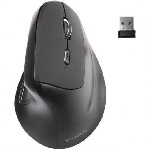 Vivanco 39632 Вертикална RF мишка,Silent click 5 бутона, dpi превключване
