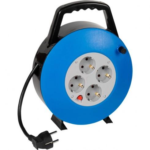 Vivanco 61150 Кабелна макара, синя 10м