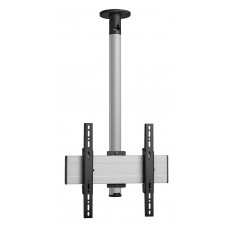 """Стойка за таван с въртене и наклон, за екрани до 65"""", до 40 кг, VESA 400x400, тръба 80 см, сребро"""