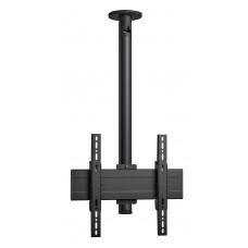 """Стойка за таван с въртене и наклон, за екрани до 65"""", до 40 кг, VESA 400x400, тръба 150 см, черно"""