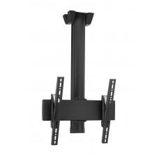 """Стойка за плосък таван за екрани до 65"""", до 80 кг, VESA 400x400, тръба 300 см, черно"""