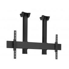 """Стойка за плосък таван за екрани над 65"""", до 160 кг, VESA 600x400, две тръби 150 см, черно"""