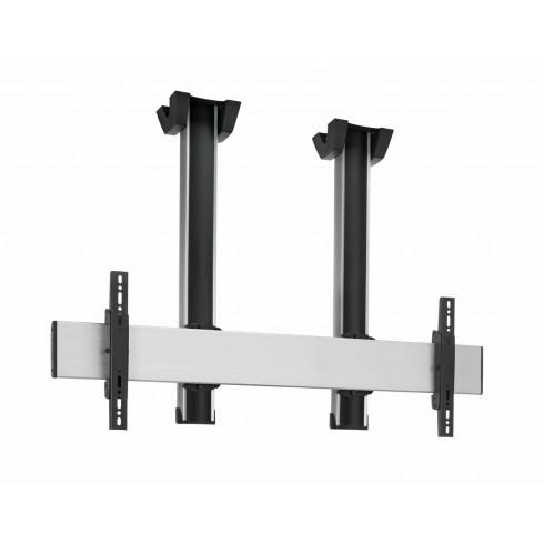 """Стойка за плосък таван за екрани над 65"""", до 160 кг, VESA 600x400, две тръби 300 см, сребро"""