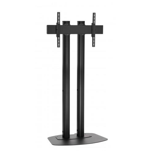 """Стойка от земя за екрани над 65"""", до 80 кг, VESA 600x400, две тръби 180 см, черно"""