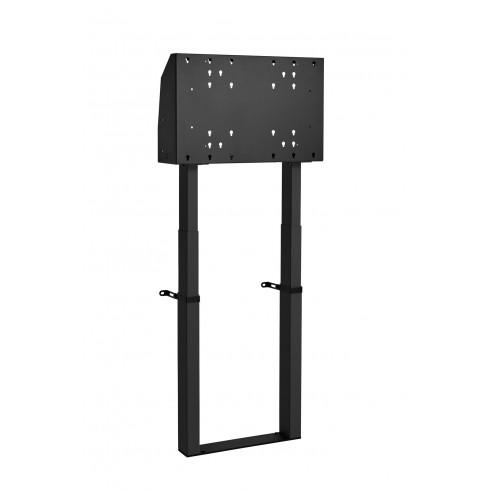 """Двойна електрическа стойка фиксирана към пода, за екрани 40""""-90"""", ход издигане 99см, VESA 600x400, до 120 кг"""