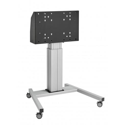 """Електрическа стойка на колела, за екрани 40""""-90"""", ход издигане 60см, VESA 600x400, до 120 кг"""