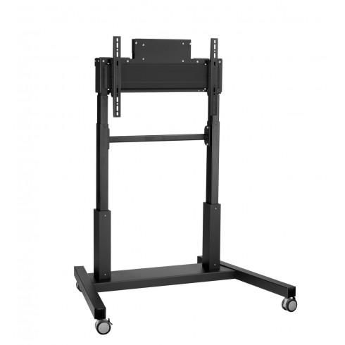 """Електрическа стойка на колела, за екрани 42""""-86"""", ход издигане 65см, VESA 600x400, до 160 кг"""